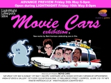 Movie Cars Exhibition by Mark Harrison open from Sat 10th May including Light Night