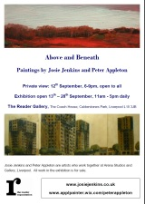 Arena Artists Peter Appleton and Josie Jenkins to exhibit at the Reader Gallery opening 12thSeptember