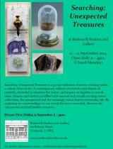 Arena Artists Janet Wilkinson and Josie Jenkins exhibit in Searching: Unexpected treasures.  Opens 12thSeptember